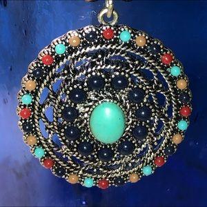 Vintage Chaps faux turquoise necklace